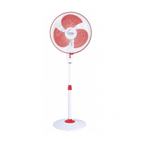 V-guard Finesta Sts 400 Mm Pedestal Fan - Red And White