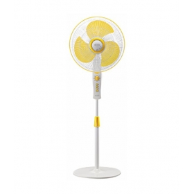 V-guard Snow Gale 400 Mm Pedestal Fan - Yellow And White