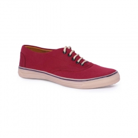 Blinder Men's Red Lace-up Casual Sneakers Shoes