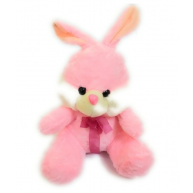 Soft And Cute Plush Rabbit Toy Pink & White Color (size 35 Cm)