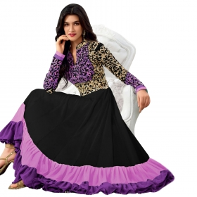 Purple Floor Length Anarkali Suit