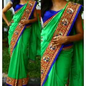 aa500935047d9 Indian Bollywood Designer Sarees For Women Party Wear