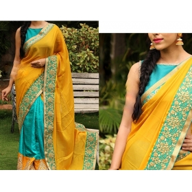 Indian Bollywood Designer Sarees For Women Party Wear