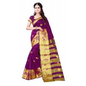 Velbutta Purple Saree