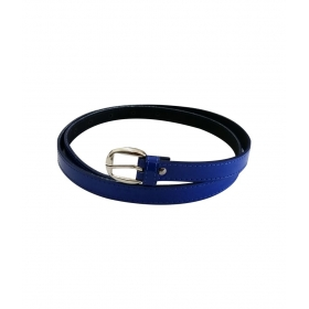 Blue Non Leather Pin Buckle Lether Casual Belt For Women