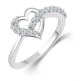 Platinum Plated Alloy Ring For Women