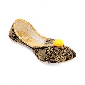 Black Flat Ethnic Footwear