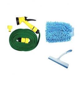 Vinayaka Virgin Plastic Water Pressure Gun With Wiper And Hand Mitt