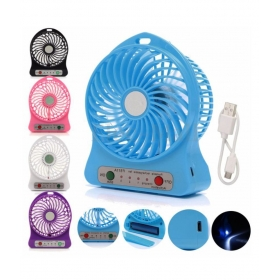 Vizio 300 Portable Super Fast Mist Rechargeable Fan Tablefan Wall Fan Multicolor