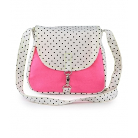 Pink Canvas Cloth Trendy Sling Bag