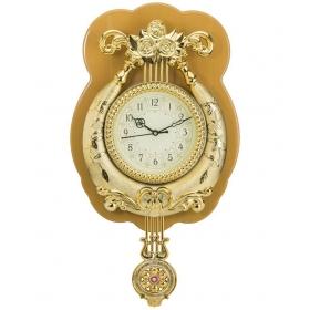 Wallace Circular Analog Wall Clock - Yash1550-biscuit Gold 14