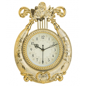 Wallace Circular Analog Wall Clock - Yash1551-golden 14