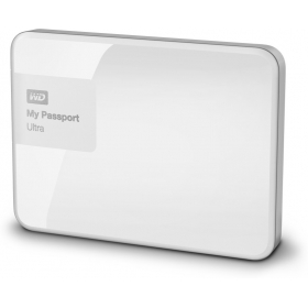 Wd My Passport Ultra 1 Tb Wired External Hard Disk Drive ( White )
