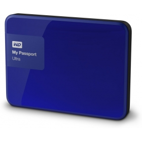 Wd My Passport Ultra 1 Tb Wired External Hard Disk Drive ( Blue )