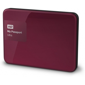 Wd My Passport Ultra 1 Tb Wired External Hard Disk Drive ( Berry )