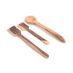 Desi Karigar Wooden Ladles (set Of 3)