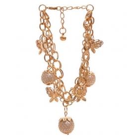 18k Gold Plated Charm Bracelet For Women/girls