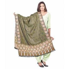 Green Faux Pashmina Silk Shawls
