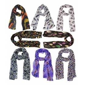 Multi Printed Cotton Scarves ( Pack Of 6 )