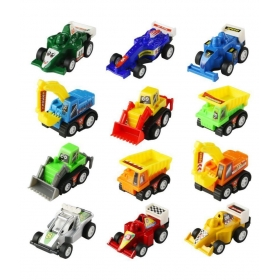 12 Pcs Mini Pull-back And Go Car Model Toy Sets