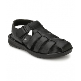 White Walkers Black Sandals