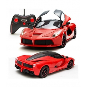 Remote Controlled Ferrari Car With Opening Doors Includes Rechargeable Batteries & Charger (red) Action Figures