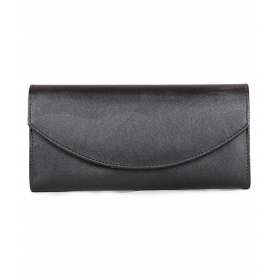 Black Faux Leather Box Clutch
