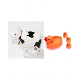Squeeze Duck Family & Wind Up Cow Combo