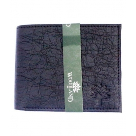 Woodland Clue Leather Black Formal Regular Wallet