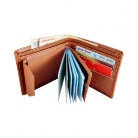 Woodland Clue Leather Tan Formal Regular Wallet