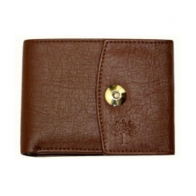 Woodland Lander Leather Brown Formal Short Wallet