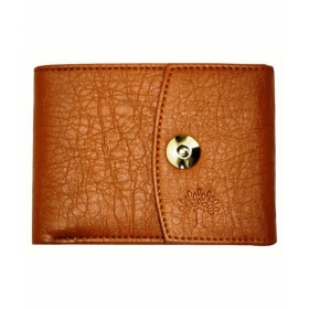 Woodland Scenics Leather Tan Casual Short Wallet