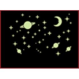 Y0036 Galaxy Of Stars Radium/glow In The Dark  Wall Sticker  Jaamso Royals