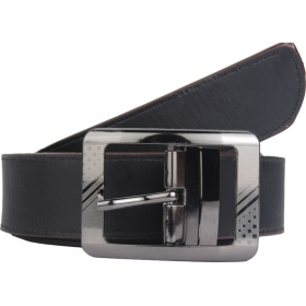 Men Formal Black Synthetic Belt