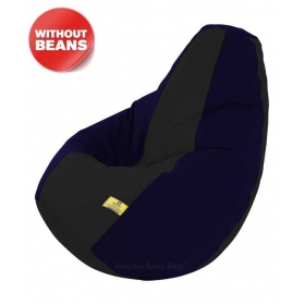 Xxl Bean Bag Cover In Black & Blue