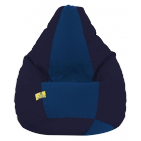 Dolphin Xxl Fabric Bean Bag With Beans Navy Blue & Royal Blue