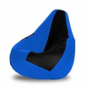 Xl Bean Bag Black & Royal Blue Cover
