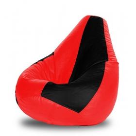 Xl Bean Bag Black & Red Cover