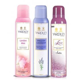 Yardley London Mist Deodorant Women 150 Ml Tripack