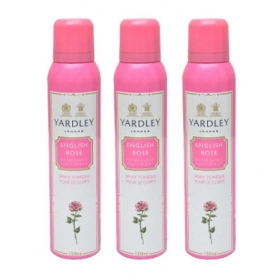 Yardley English Rose Women Deo Pack Of 3-each 150 Ml