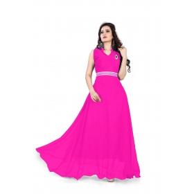 Dark Pink Plan Gown
