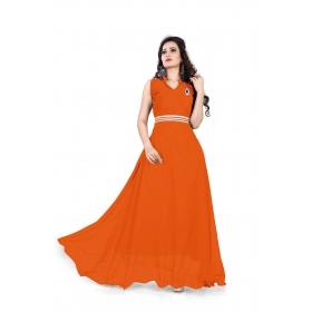 Orange Plan Gown