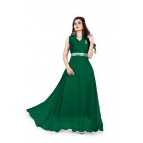Dark Green Plan Gown