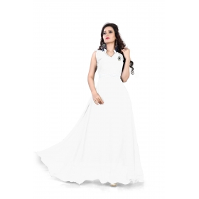 White Plan Gown