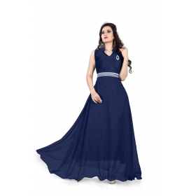 Navy Blue Plan Gown