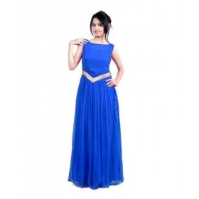 Dark Blue-v Gown