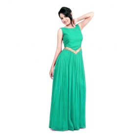 Light Neutral-v Gown