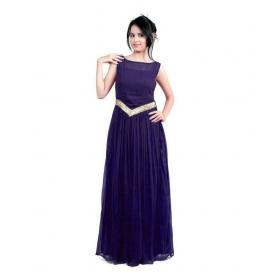 Navy Blue-v Gown