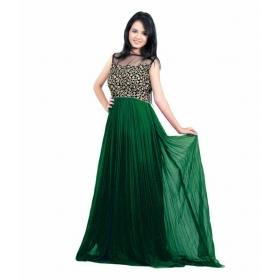 Dark Green Choli Gown
