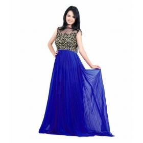 Dark Blue Choli Gown